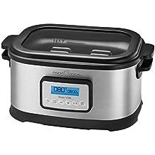 ProfiCook Sous Vide–Schongarer Topf und Vakuum für Küche Kochen bei niedrigen Temperaturen, 8,5l, 520W, grau/schwarz
