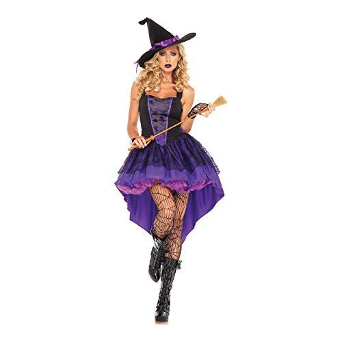 YaXuan Traje de Vampiro/Bruja Sexy Disfraz de Cosplay/Traje de Fiesta Mujer Navidad/Halloween / Festival de Carnaval/Disfraces de Halloween para Las Fiestas (Color : Púrpura, tamaño : XXL)