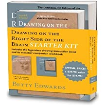 By Betty Edwards - The Drawing on the Right Side of the Brain Starter Kit (4 Spi Rev)