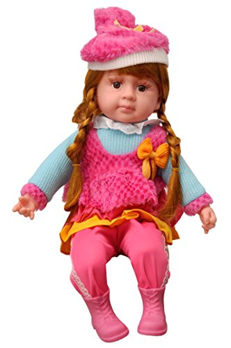 Toyshine 18 Inches Rhymes Singing Boy Doll, Touch Sensors, Braided Hair, Assorted Design