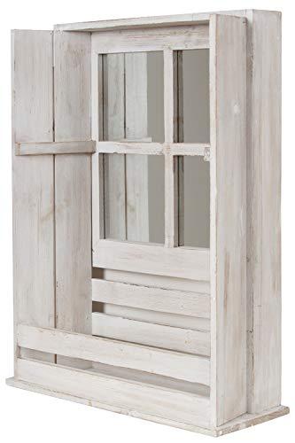 My Flair 161049 Wandhängeschrank Spiegelschrank Walon mit Ablagefach und Spiegel im Shabbi Chic...