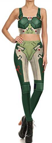 Belsen Damen Leggings mehrfarbig Warrior Small Green Warrior Leggings