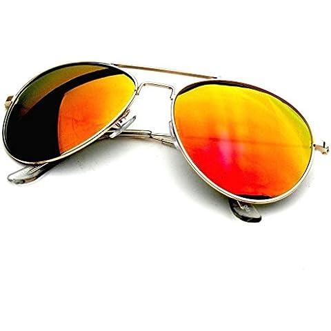 Emblem Eyewear - Premium Classic Metal Reflexivo Revo Espejo Lente Aviador Gafas De Sol