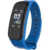 VEVICE 1PC C1s Fitness Tracker, Smartwatches con Pulsómetro Monitor de Paso Contador de Actividad Pulsera Inteligente con IP67 Impermeable Bluetooth Podómetro Monitor de Sueño, Azul, As Shown