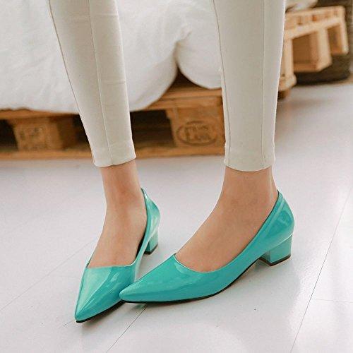 Misssasa Femme Mince Heeled Half Foot Pompes Moderne Vert Menthe