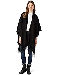 TOM TAILOR Denim Femmes Poncho à franges