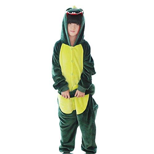 l Animal Neuheit Schlafanzug Nachtwäsche Kostüme für Halloween Cosplay Größe L Dinosaurier (Grün) (Amazon Halloween Kostüme Für Kinder)