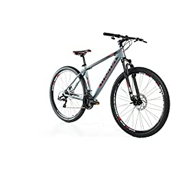 """Moma Bikes Bicicleta Montaña GTT 29"""", Aluminio, SHIMANO 24 V, Doble Freno Disco, Susp. Delant, talla L (1,70-1,84 m)"""
