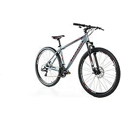 "Moma Bikes Bicicleta Montaña GTT 29""Alu, SHIMANO 24V, Doble Freno Disco, Susp. Delant. (Varias Tallas)"