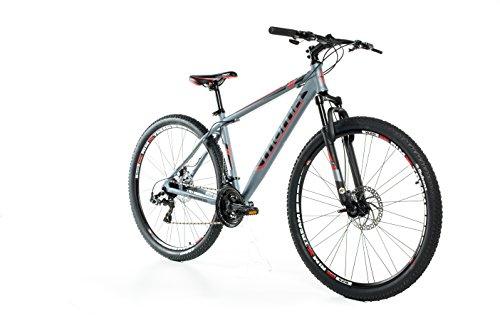 Moma Bikes, Bicicletta Mountainbike 29' MTB Shimano, Alluminio, Doppio Disco e Doppia Sospensione