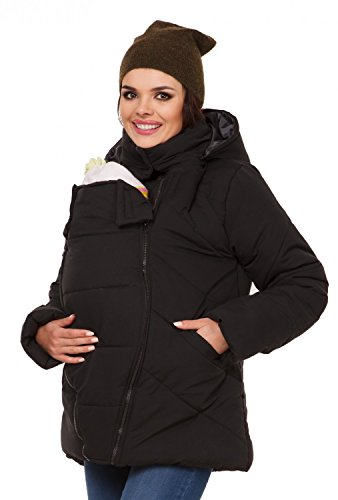 Foto de Zeta Ville - Chaqueta acolchada premamá abrigo panel extraíble - mujer - 075c (Negro, EU 38, M)