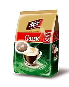 Philips Senseo Luxury Café Rene Cremé Regular Roast Coffee Pads Pods Bag 252 g (Pack of 3, Total 108 Coffee Pads