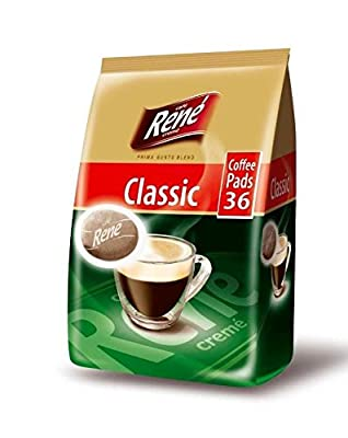 Philips Senseo Luxury Café Rene Cremé Regular Roast Coffee Pads Pods Bag 252 g (Pack of 3, Total 108 Coffee Pads