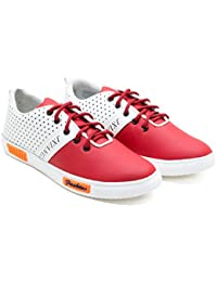Zixer Red & White Casual Shoes For Men