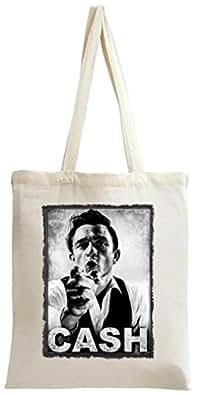 Johnny Cash Portrait Tote Bag