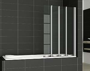 4 Panel Straight Folding Bath Screen