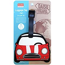DAISO JAPAN - Etiqueta para equipaje rojo Rot, weiß, schwarz