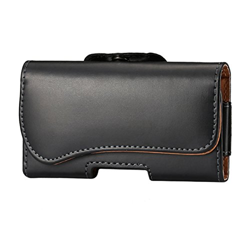 KM-WEN® PU Leder Lamb Muster Vertikal Leder Tasche Handgefertigte Gürteltasche Gürteltasche Design Männer Beutel Handy Hülle für iPhone 6 plus / iPhone 6s plus ,Samsung Galaxy A8 / S6 Edge+ ,Note5 / 4 Schwarz-16