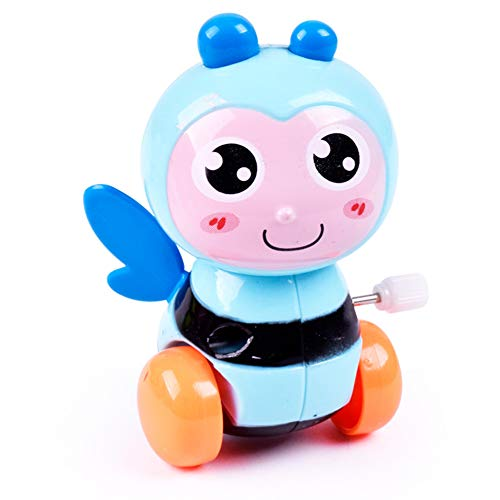 Hemore Cartoon Animal Bee Clockwork Play Toys Kids Wind up Toy for Baby Early Education Cute Animal Bee Toys 1Pc