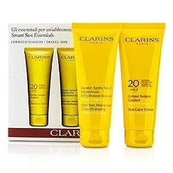 Clarins Smart Sun Essential Kit: Sun Care Cream 20 UVA/UVB 100ml + After Sun Moisturizer 100ml - 2pcs