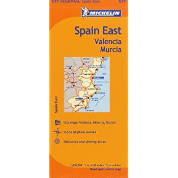 Michelin Spain East, Valencia Murcia / Espagne Est Valence Murcie