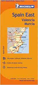 Amazon.fr - Michelin Spain East, Valencia Murcia / Espagne Est Valence Murcie. - Michelin Travel