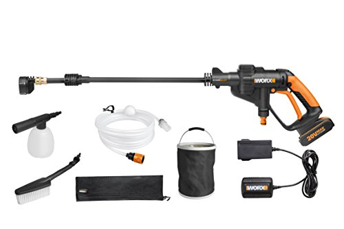 The WORX WG629E.1HYDROSHOT Pressure Cleaner will help you clean all the grime and dirt from your surfaces. Effective for cleaning cars and patios among other things, the portable unit draws water from available sources. Whether it is a bucket or a bottle, the battery-powered unit is able to syphon water easily and avail it for cleaning.