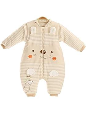 Chilsuessy Baby Schlafsack mit Füssen Warm gefüttert Unisex Kinder Winter Schlafanzug mit abnehmbar Langarm Winterschlafsack...