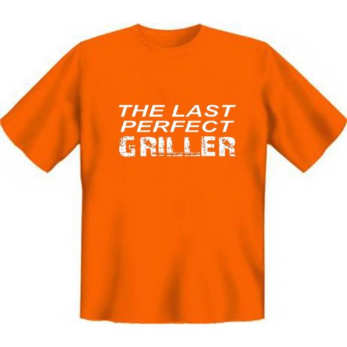 Grillshirt: The last perfect GRILLER - grillen T-Shirt Fb orange Orange