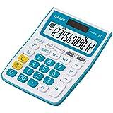 Casio MJ-12VCB-BU Desktop Calculator (White and Blue)