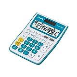 #10: Casio MJ-12VCB-BU Desktop Calculator (White and Blue)