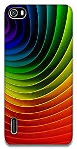 The Racoon Lean Rainbows hard plastic printed back case / cover for Huawei Honor 6