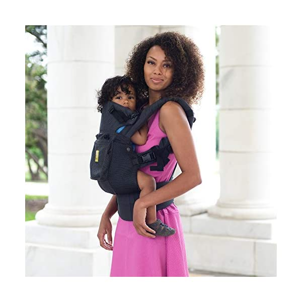 SIX-Position, 360° Ergonomic Baby & Child Carrier by LILLEbaby - The Complete Airflow (All Charcoal) Lillebaby ERGONOMIC: Perfect for newborns. No insert needed. COMFORT: Voted most comfortable baby carrier. SIX (6) POSITIONS: Front inward (fetal, infant, or toddler settings), front outward, hip or back carry. 7 - 45 lbs. 8