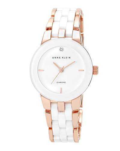 anne-klein-womens-north-classics-quartz-watch-with-white-dial-analog-display-and-rose-gold-ceramic-b