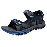 Men's Summer Outdoor Open Toe Sport Non-Slip Beach Running Paste Design Pure Color Casual Sandals