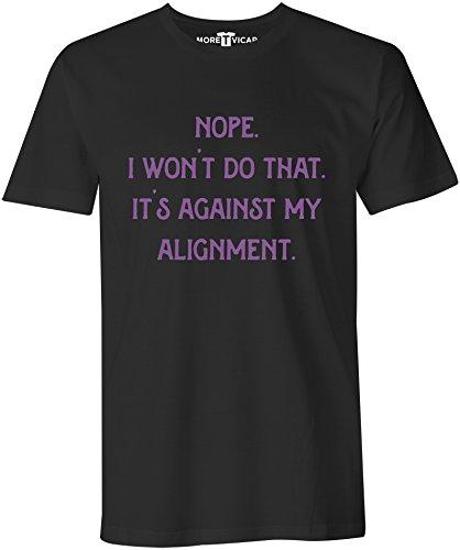 Against My Alignment - Herren Warcraft Slogan T Shirt Schwarz
