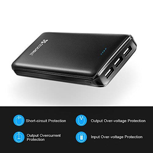 Powerbank 20000mAh, Coolreall 3 USB Port 4,8A Output Externer Akku Power Bank - 3
