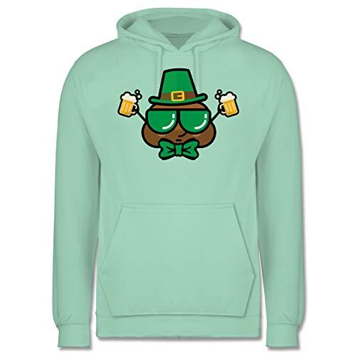 St. Patricks Day - Irischer Kackhaufen - S - Mint - JH001 - Herren Hoodie (Saint Rose Kostüm)