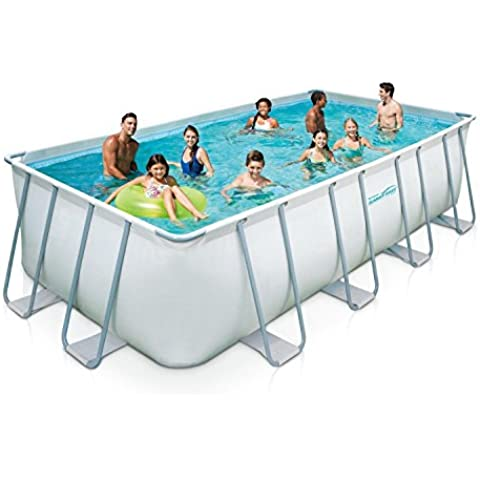 Summer Waves piscina 549 x 274 x 132 cm Set completo Frame Swimming Pool Telaio in acciaio + accessori - Metalli Skimmer