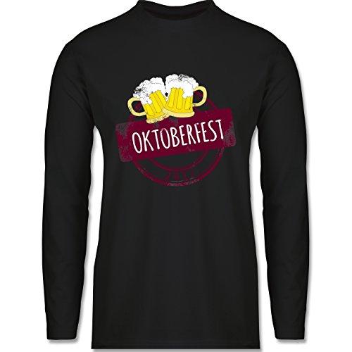 Oktoberfest Herren - Vintage Stempel Oktoberfest 2017 - Longsleeve / langärmeliges T-Shirt für Herren Schwarz