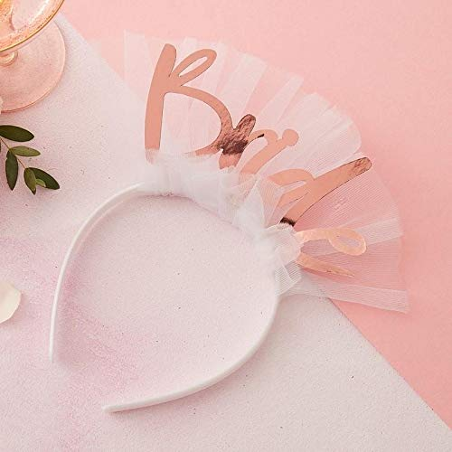 Ginger Ray Bride to Be Headband Veil - Floral Hen Range by