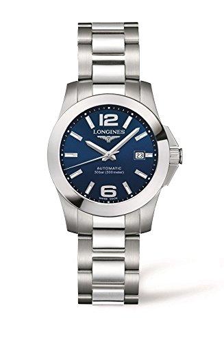 Longines orologio da donna con display analogico nero in acciaio INOX L32764996
