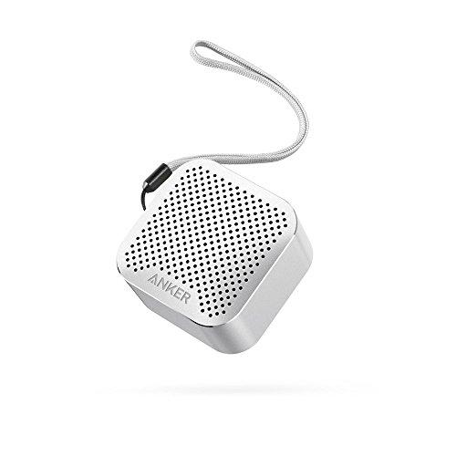 Super Kleiner Bluetooth Lautsprecher Wireless Speaker mit Großen Sound und Mikrofon für iPhone, iPad, Samsung, Nexus, HTC, Laptops und weitere (Silbrig) ()