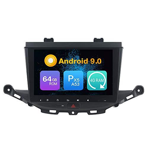 Android 9.0 Octa Core Ram 4G 64 GB Rom autoradio GPS Navigazione Controllo del volante 4G headunit Stereo Link specchio WI-FI (Carplay/DSP-Opzionale) Bluetooth PerOPEL ASTRA K 2016 2017