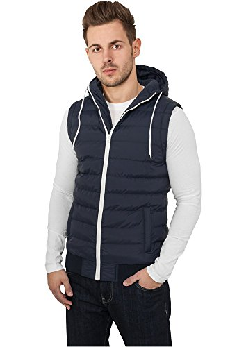 TB510 Small Bubble Hooded Vest Daunen Weste Navy/White