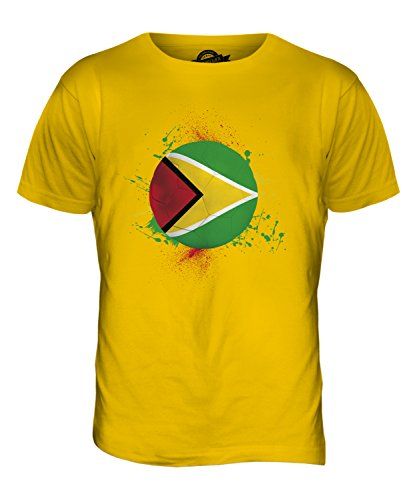 CandyMix Guyana Fußball Herren T Shirt Dunkelgelb