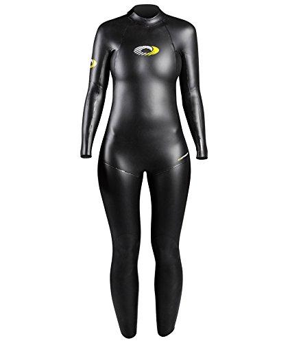 Mulheres Osprey 5 mm comprimento triathlon neoprene terno, Não, Não, feminino, cor preta, tamanho grande