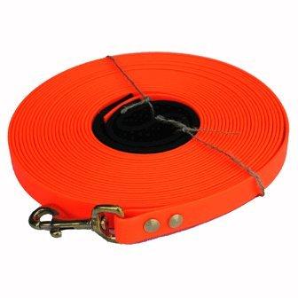 Biothane Schleppleine 5m orange 12 mm breit