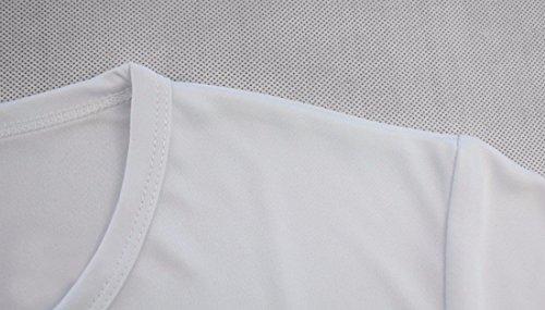 QIYUN.Z Männer Frauen Kurzarmhemden Feste Farbe Weiß Unisex Team Bluse T-Shirt Weiß