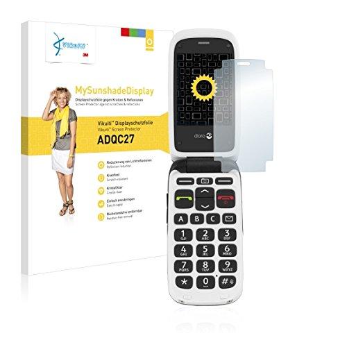 Vikuiti MySunshadeBildschirm ADQC27 Bildschirmschutz Schutzfolie für Doro PhoneEasy 612 (kristallklar & reflexmindernd, hartbeschichtet)